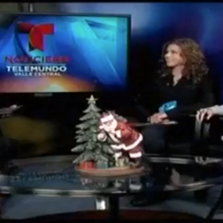"Telemundo's ""Opening Door's segment"" with Norma Gaspar."